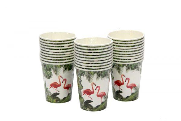 כוסות פלמינגו טרופי