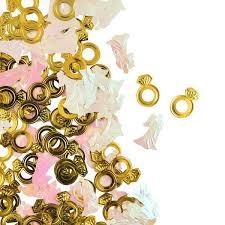 קונפטי טבעות זהב